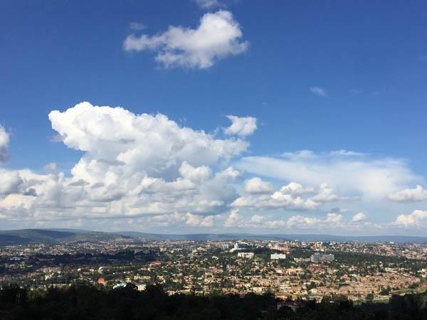 Kigali city view from Marriott Hotel. Rwanda