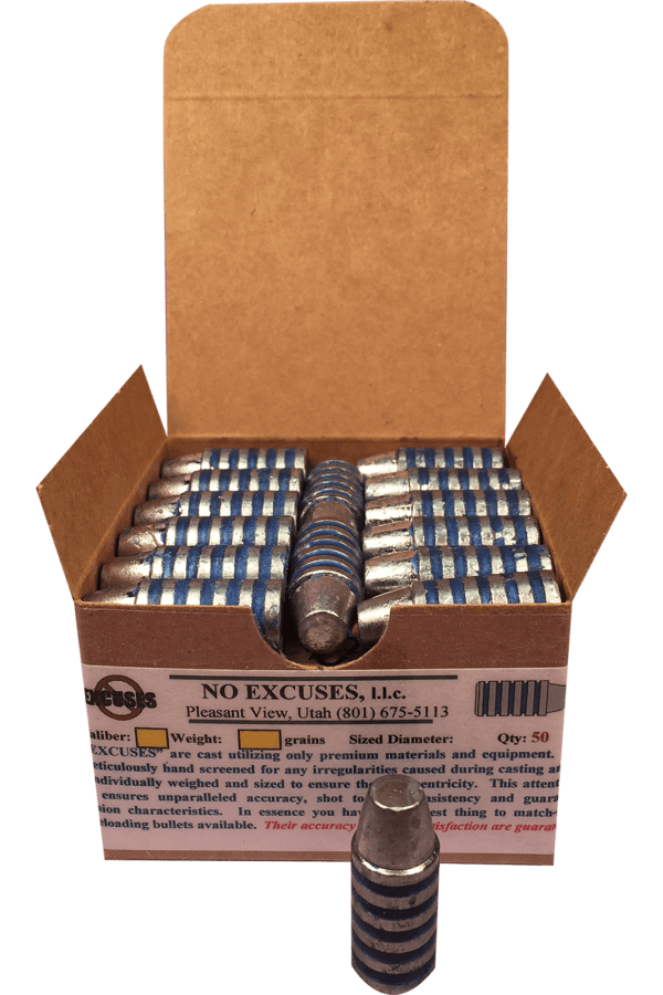 54 Caliber 535 Grains - NO EXCUSES MUZZLELOADING BULLETS