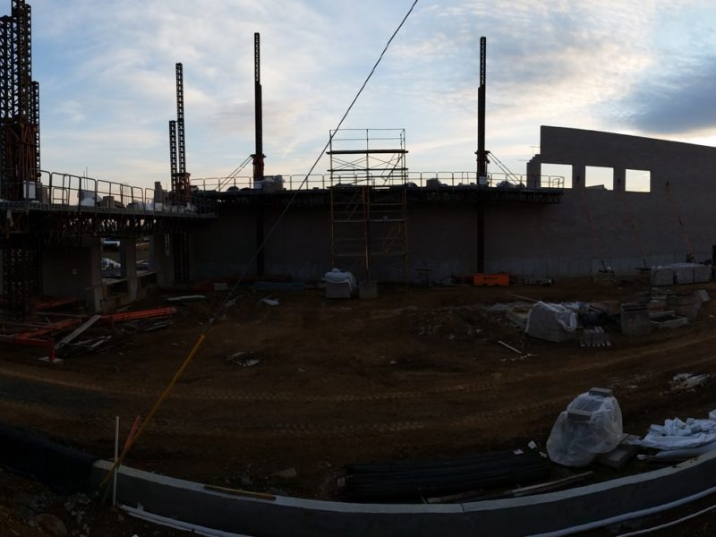 Panorama of the Whole Foods Market in Allentown, PA. Opening is set for Fall of 2016.