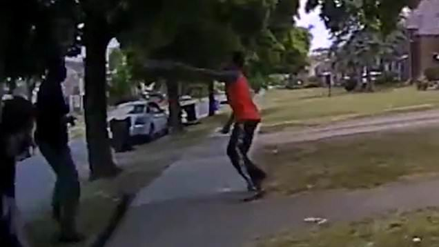 Hakeem Littleton as he attempts to kill Detroit police officer