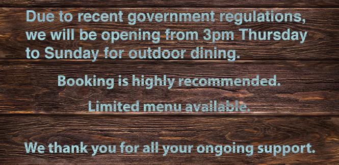 MV Cill Airne restaurant open from Thursday to Sunday
