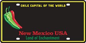 sample NM chile license plate