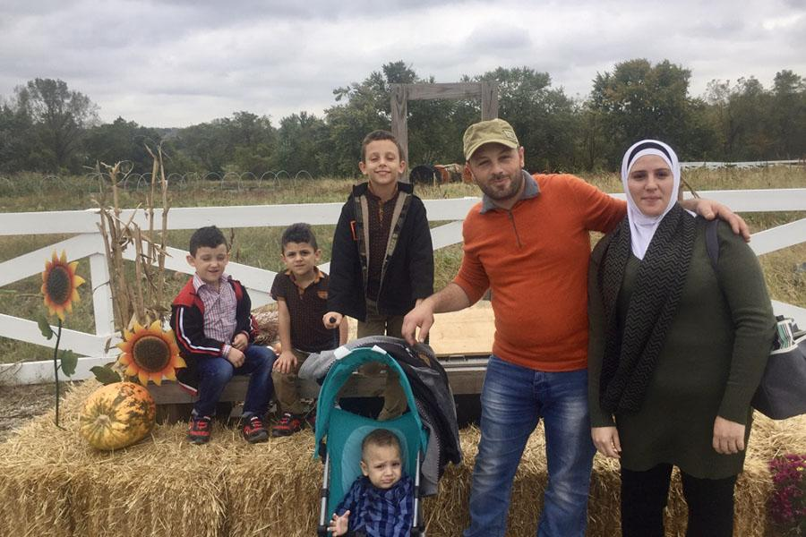 After relocating to America the Alkhawaja family enjoys spending time together by attending the Drumm Farm.