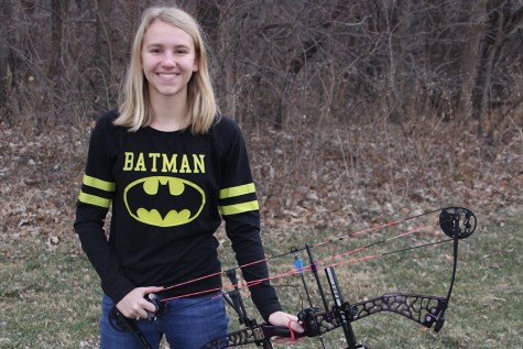 Sophomore Callie Roberts competes in archery