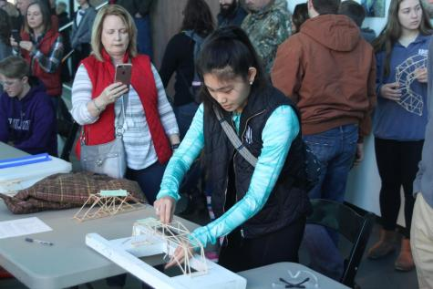 Physics students participate in fourth annual marshmallow launcher competition