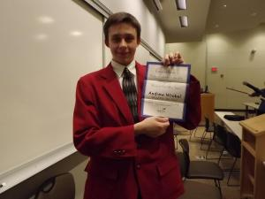 Junior Andrew Wrobel: State Officer for Skills USA