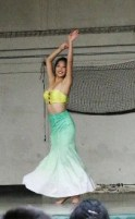 Amber Zhao, 11, performs a slow Chinese dance
