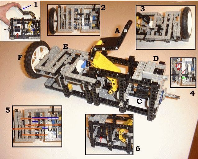 Interesting Lego Mindstorms Inventions Check out the Lego transmission  Ohh yeah  it s even got a clutch  two  tires that stick together