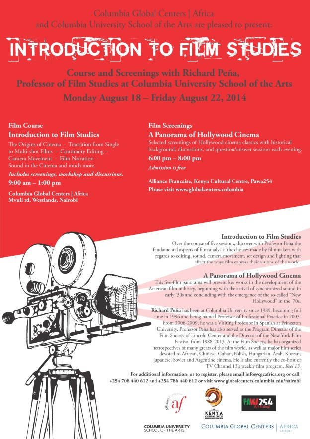Free Film Course Offer In Nairobi By Columbia University Mwende Ngao
