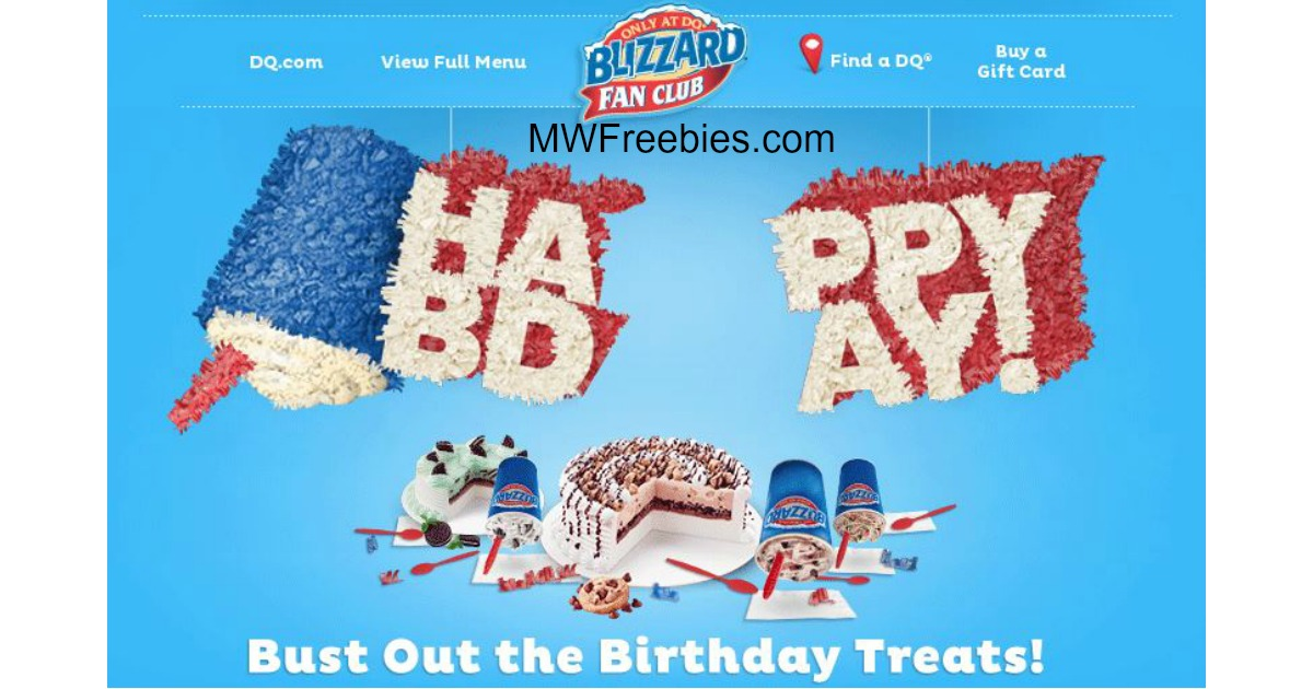 Sensational Bogo Free Blizzards Dairy Queen 3 Off A Dq Cake For Your Personalised Birthday Cards Cominlily Jamesorg