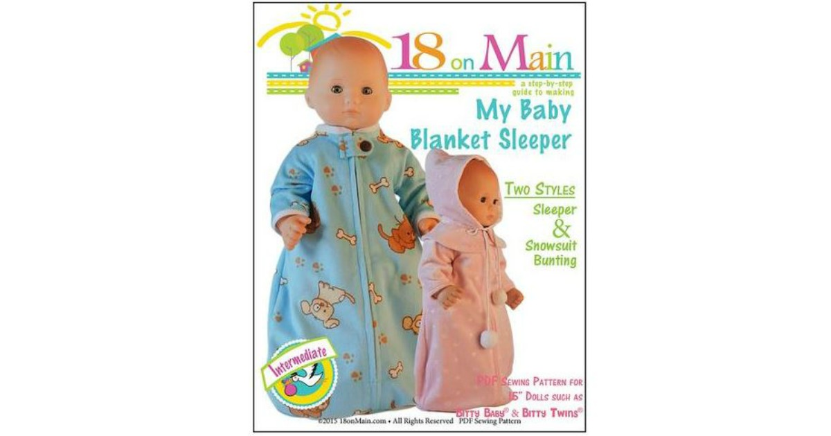 FREE My Baby Blanket Sleeper for 15 Inch Dolls, Clothes Pattern ...
