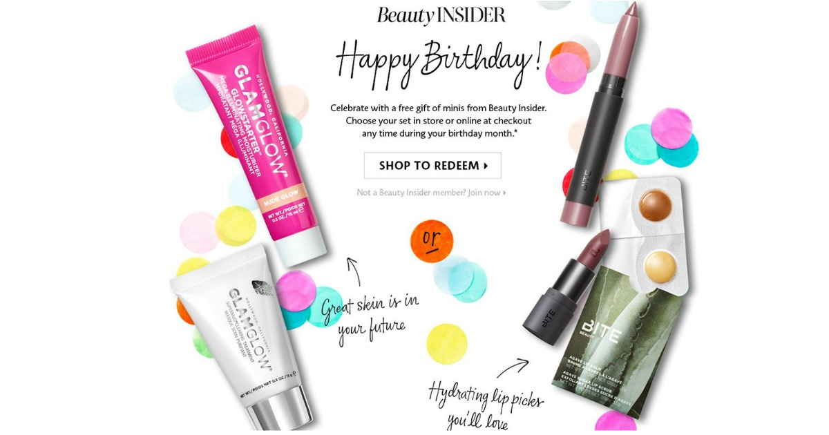 FREE Minis From GLAMGLOW Or Bite Beauty For Your Birthday Sephora