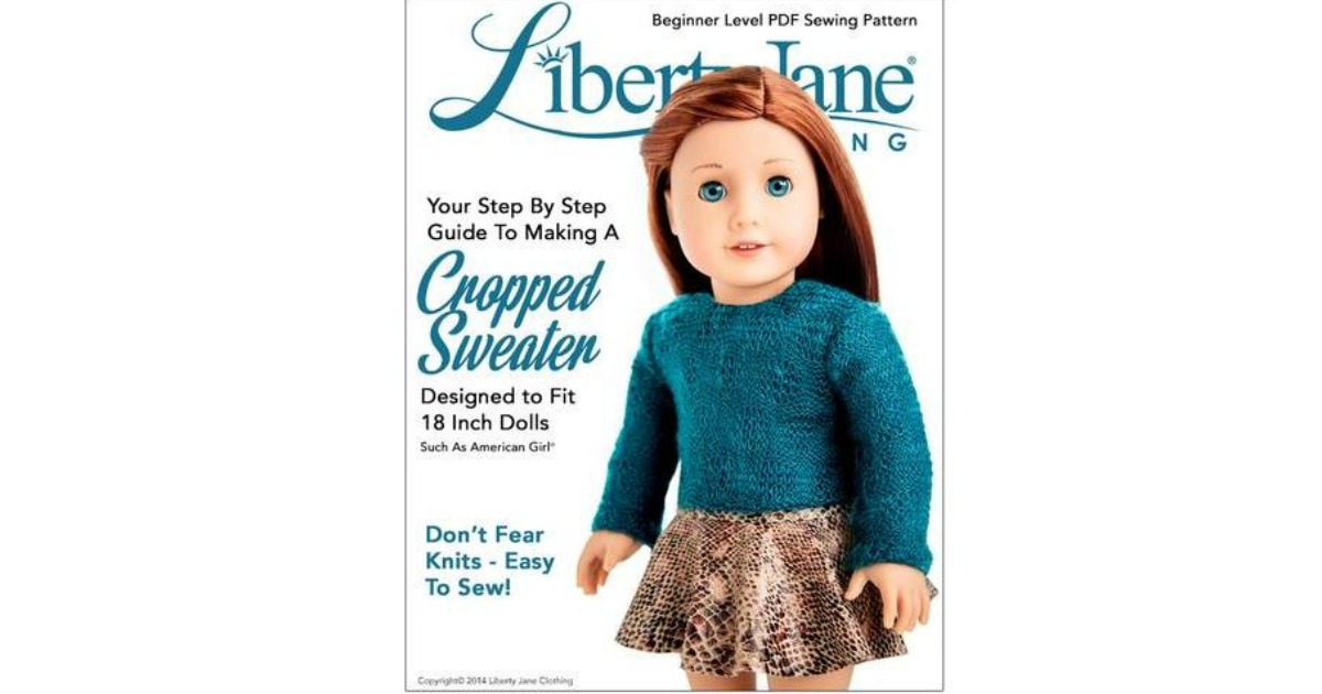 Free Cropped Sweater For 18 Doll Clothes Pattern Today Only1123