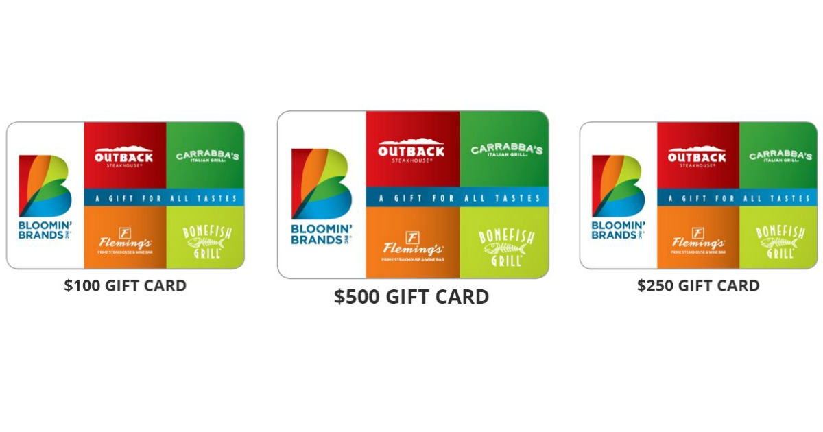 BLOOMIN BRANDS GIFT CARD