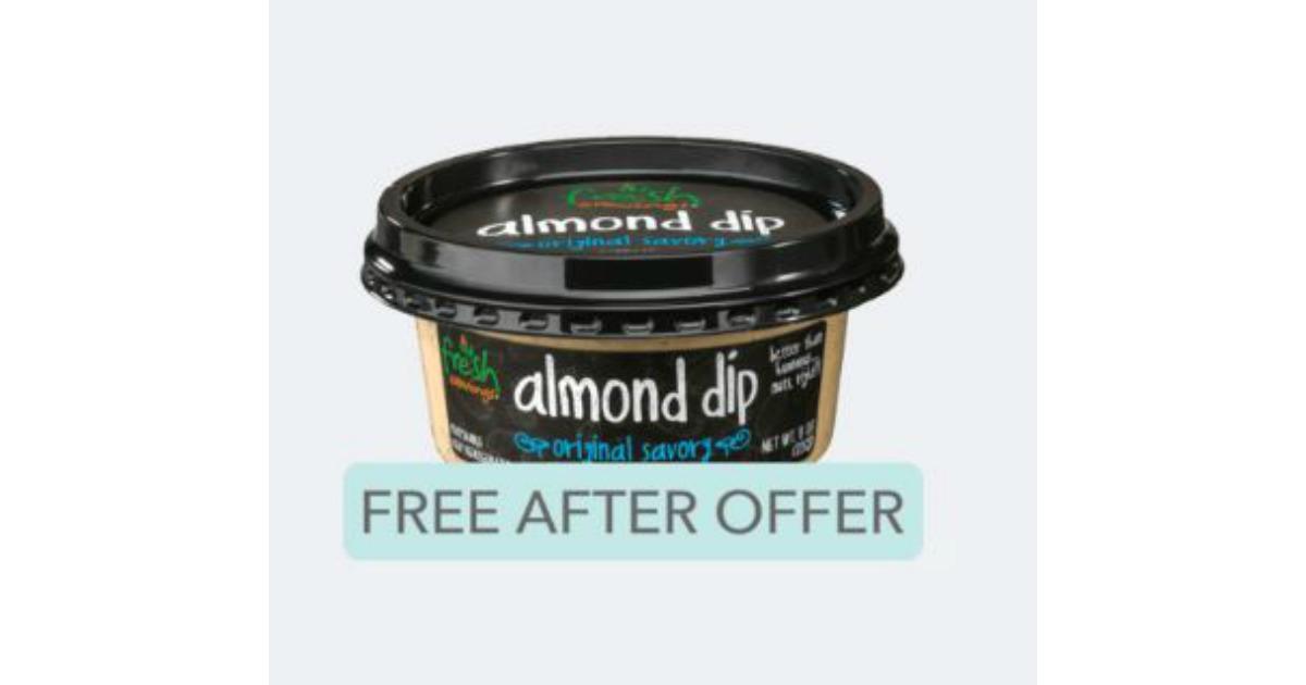 FREE Fresh Cravings Almond Dip at Walmart After Ibotta