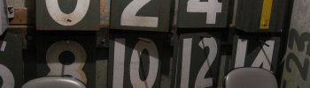 stadium-love-: Baseball Is a Numbers Game by Rickumali Inside the Green Monster at Fenway Park.