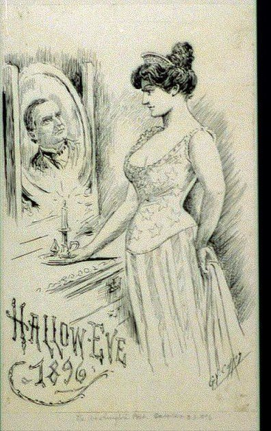 Hallow-eve, 1896. George Yost, 1850-1896, artist