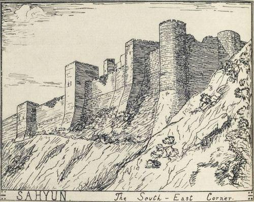 T.E Lawrence's sketch of Qal'at Salah el Din (Sayhun, Saone) 1909