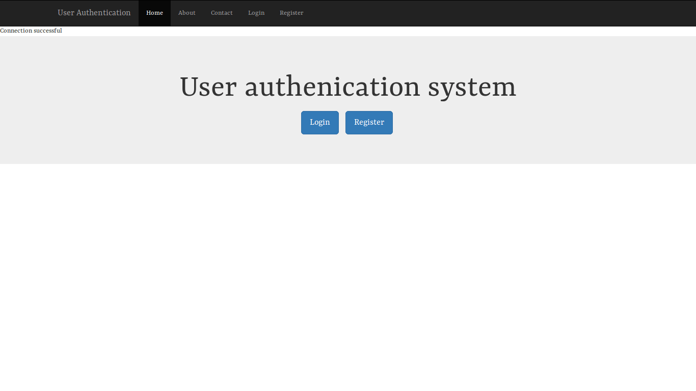 User Authentication System
