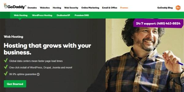 GoDaddy webhosting  - مجلة ووردبريس