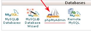 phpmyadmin icon - مجلة ووردبريس