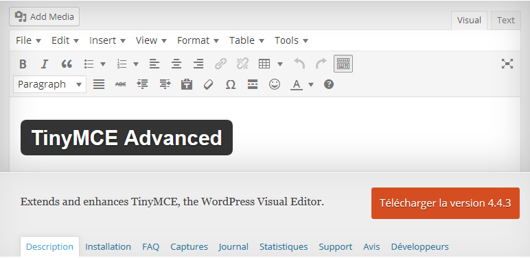 TinyMCE Advanced WordPress Plugins - مجلة ووردبريس