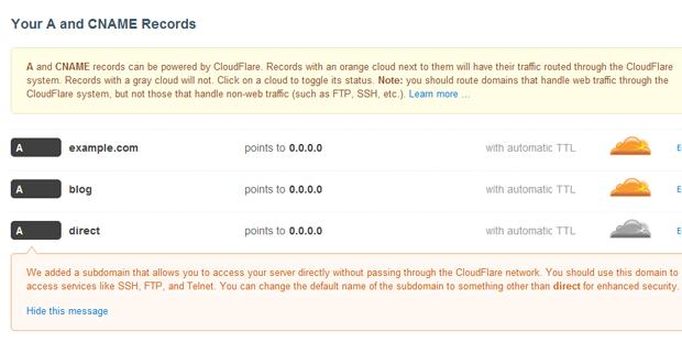 cloudflare final list dns records - مجلة ووردبريس