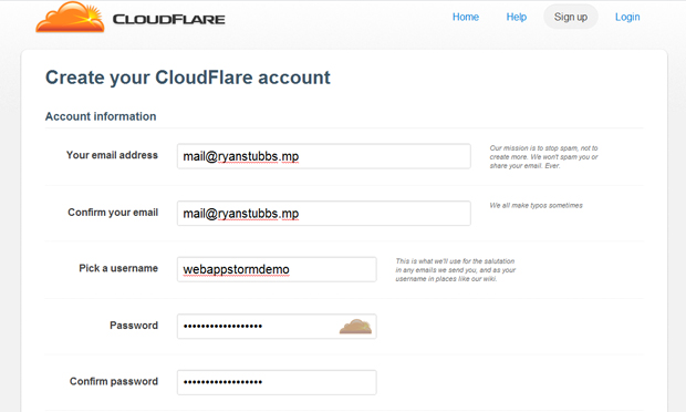 cloudfront signup - مجلة ووردبريس