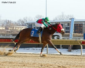 Silent Rap and Santo Sanjur cruise in for the win in Hawthorne's fourth Saturday (2-28-15)