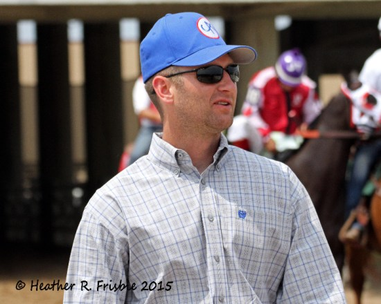Trainer Jason Olmstead, trainer of the top 2 finishers in the Futurity