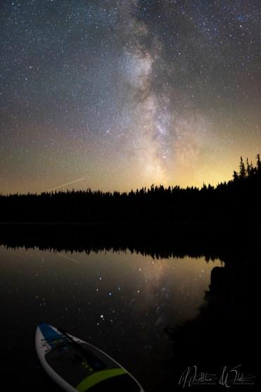 The Milky Way over Takhlakh Lake.