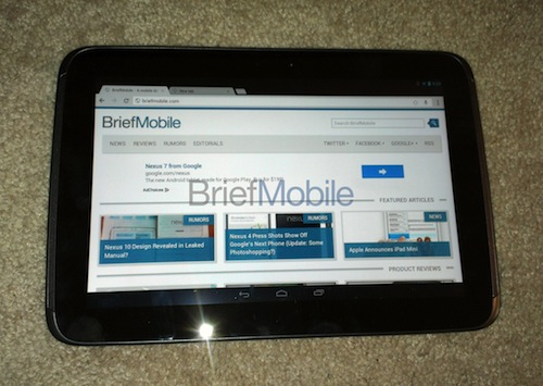 ภาพหลุด Samsung Nexus 10 ภาคต่อของ Google Tablet