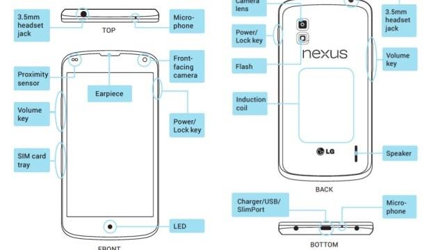 คู่มือการใช้งาน LG Nexus 4 หลุดด้วยและรูปตัวอย่างจากกล้อง Nexus 10