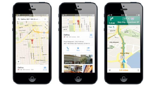 Google Maps For iOS ผ่านการ Download 10 ล้านครั้ง แบบข้ามคืนเท่านั้น