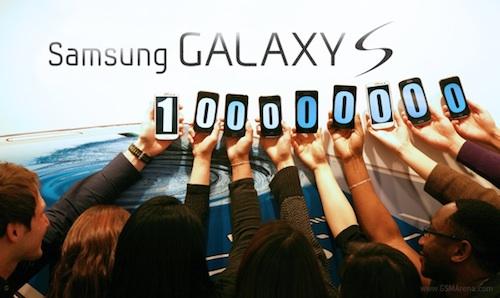 Samsung Galaxy S ทั้งหมด ผ่านหลัก 100 ล้านเครื่อง
