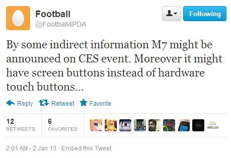 ตัวท็อป! HTC M7 เตรียมเปิดตัวในงาน CES 2013 นี้พร้อม Android 4.1 Jelly Bean