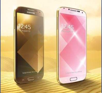 Samsung เปิดตัว Galaxy S4 สีทอง!