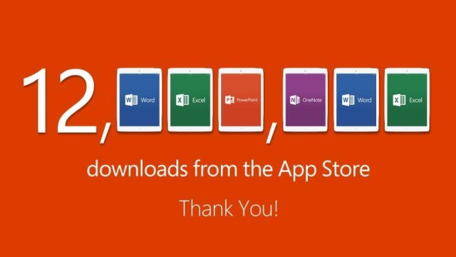 Microsoft Office for iPad ยอดดาวน์โหลด 12 ล้านครั้งแล้วจ้า
