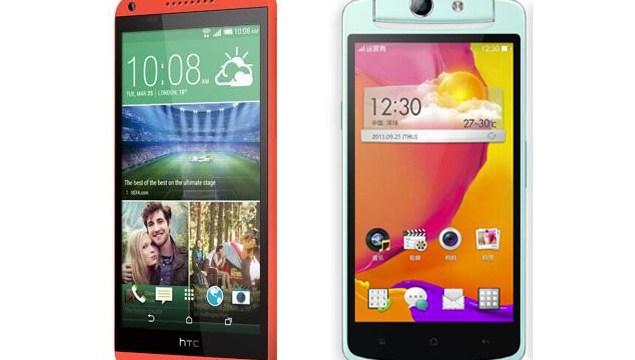 เทียบ 2 สมาร์ทโฟนมาแรง  2 รุ่นฮิต OPPO N1 mini และ  HTC Desire 816