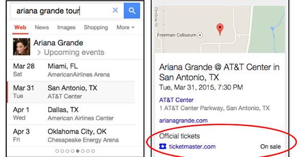 สามารถซื้อตั๋วงานแสดงต่างๆ ผ่าน Google Search และ Google Maps ได้แล้ว!!!