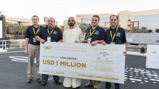 """สองทีมจากสหรัฐคว้ารางวัล """"UAE Drones for Good Award"""" และ """"UAE AI & Robotics Award for Good"""""""