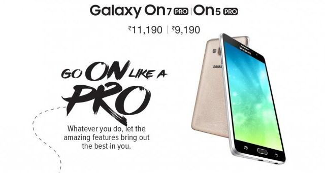 Samsung เปิดตัวรุ่นอัพเกรด Galaxy On5 Pro และ Galaxy On7 Pro