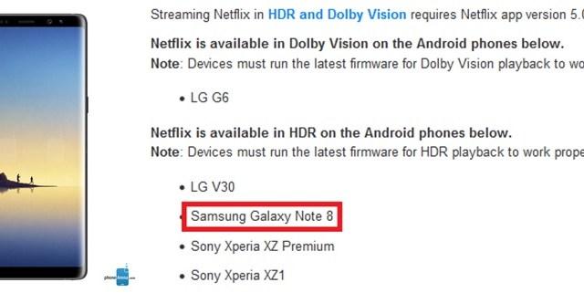 คอซีรีส์เฮ! Netflix รับรองสตรีมมิ่งวีดีโอระดับ HDR ให้ Galaxy Note8 แล้ว