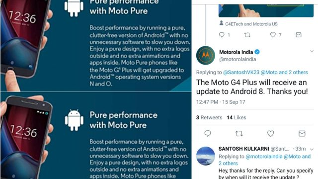 เอ๊ะยังไง? Motorola ถอดคุณสมบัติอัพเดต Android O ออกจากหน้า Moto G4