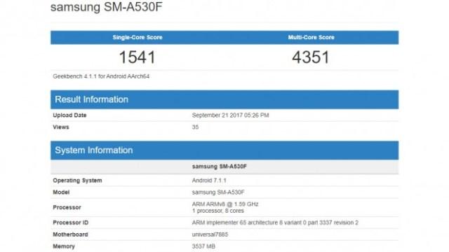 พบข้อมูลรุ่นอัพเกรด Samsung Galaxy A5 (2018) ใช้ชิป Exynos 7885