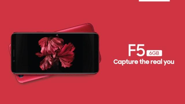 ออปโป้ จ่อส่ง OPPO F5 6 GB สมาร์ทโฟนสเปคแรงเข้าเขย่าตลาด