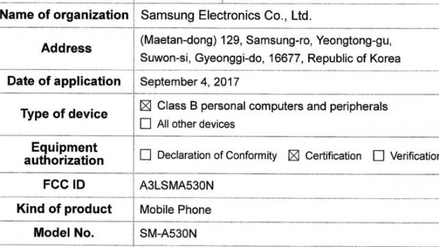 Samsung Galaxy A5 (2018) ผ่านรับรอง FCC มีลุ้นเปิดตัวช่วงปีใหม่