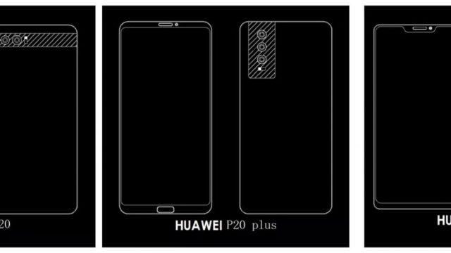 โชว์โครงร่าง Huawei P20 เรือธงรุ่นใหม่มี 3 โมเดล 3 สไตล์ และมีรอยบากเหนือจอ