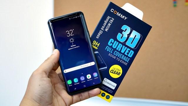 COMMY 3D Curved Full Coverage กระจกกันรอยเต็มจอเพื่อคนใช้ Galaxy S9 / S9 Plus คลุมสุดถึงขอบข้าง ใส่เคสหนาหรือบางก็ได้ไม่ดันกระจก