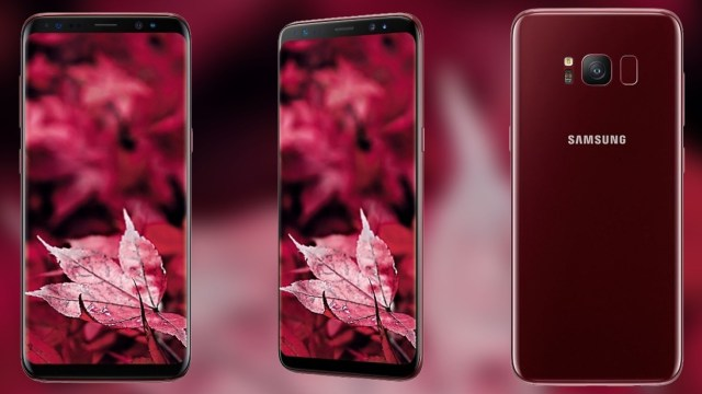Samsung เปิดตัวเรือธง Galaxy S8 สีแดง (Burgundy Red) ที่อินเดีย